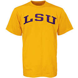 LSU Tigers Gold Arch Logo T-Shirt