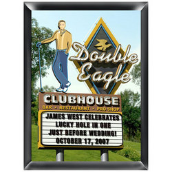 Personalized Double Eagle Golf Sign