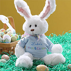 First Easter Personalized Plush Bunny in Blue