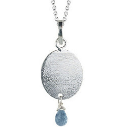 Swiss Blue Topaz Pendant in Silver