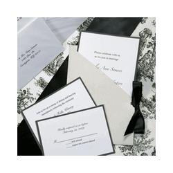 Silver Jacket Wedding Invitations Kit