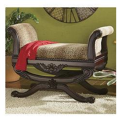 Leopard Print Bench Seat