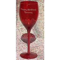 Personalized Midnight Red Wine Glass