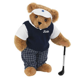 Golfer in Sweater Vest Teddy Bear