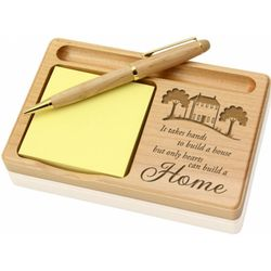 To Build a Home Wooden Notepad and Pen Holder