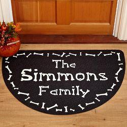 Bones Personalized Halloween Greetings Doormat