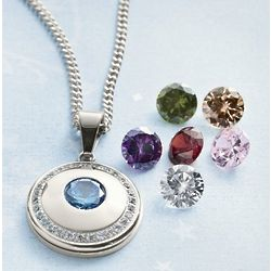 Interchangeable Crystal Pendant Necklace