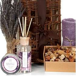 Lavender Relaxation Fragrance Spa Basket