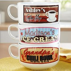 Personalized Ice Cream, Coffee, or Chili Bowl