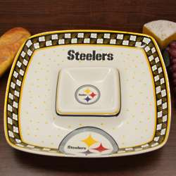 Pittsburgh Steelers Gameday Square Chip and Dip Serving Tray