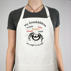 Caught in My Web Personalized Halloween Apron