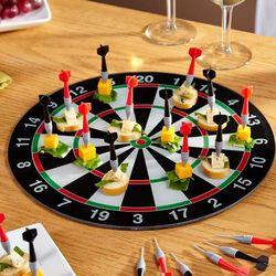 Bullseye Appetizer Serving Tray and Picks