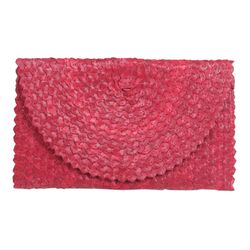 Cascade Palm Leaf Clutch Handbag