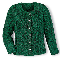 Green Aran Attraction Cardigan