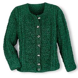 Green Aran Attraction Cardigan