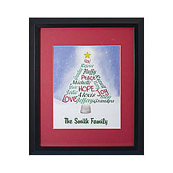 Personalized Christmas Tree Print