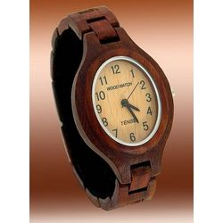 Ladies Oval Face Sandalwood Watch