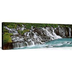 Hraunfoss Waterfall, Iceland Canvas
