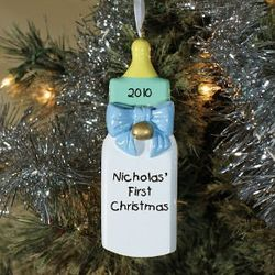 Personalized Boys Baby's First Christmas Ornament