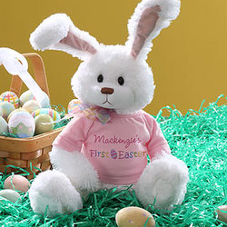 First Easter Personalized Plush Bunny in Pink