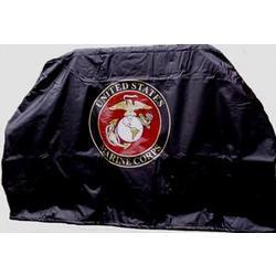 USMC Black Grill Cover