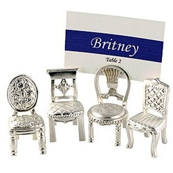 Bridal Chairs Placecard Holders Set