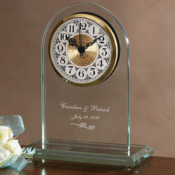 Personalized Everlasting Love Wedding & Anniversary Clock