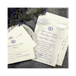 Dainty Purple Wedding Invitation Kit