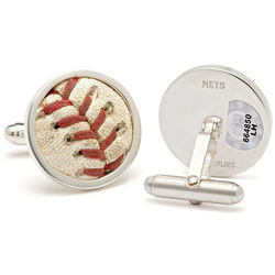 Mets Game-Used Baseball Cuff Links