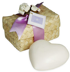 Heart Soap in Hawaiian Favor Box