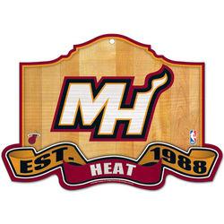 Miami Heat 11x17 Wood Sign