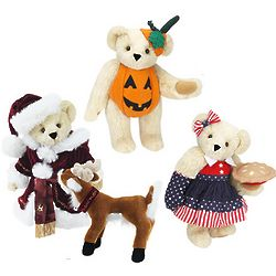 "15"" Teddy Bear with Three Outfits"