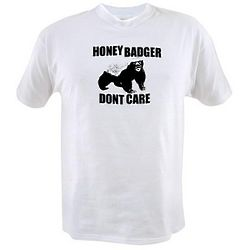 Honey Badger Don't Care Black and White T-Shirt