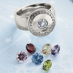 Interchangeable Crystal Ring