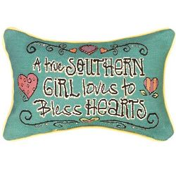 Bless Your Heart Word Decorative Pillow