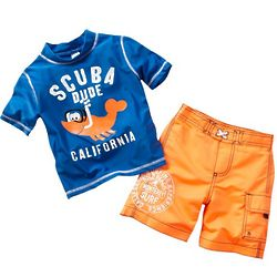 Toddler's Scuba Dude Rash Guard Set