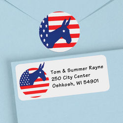 Donkey Political Address Labels and Seals