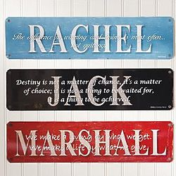 Personalized Motivational Metal Sign