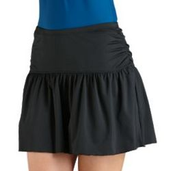 Women's UPF 50+ Ruche Swim Skirt