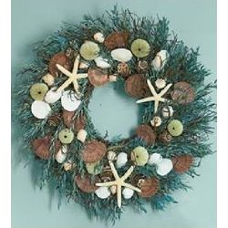 Caribbean Starfish Seashell Wreath