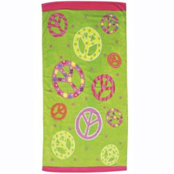 Personalized Peace Sign Towel