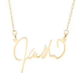 Custom Signature Gold Nameplate Necklace