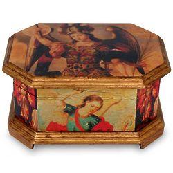 Archangels Decoupage Wood Jewelry Box