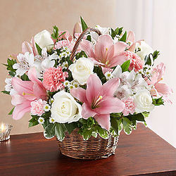 Peace, Prayers & Blessings Large Pink and White Bouquet