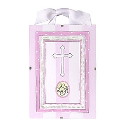 Christening/Baptism Print in Pink