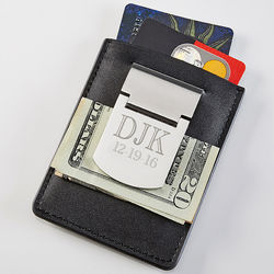 Engraved Card Holder & Money Clip