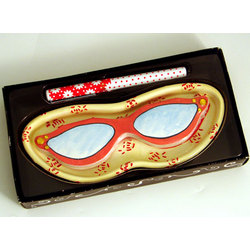 Glamour Specs Eyeglass Holder with Note Pad & Pen