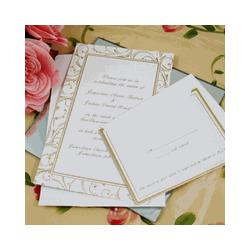 Gold Swirl Invitation Kit