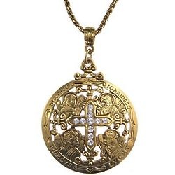 Writers of the Good Word Gold Cross Necklace