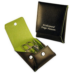 Travel Leather Manicure Set